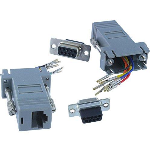 (HIOTECH 10 PCS DB9 Pin Female to RJ45 Female 8P8C Modular Adapter Modem Connector Plug Kit - Light Blue)