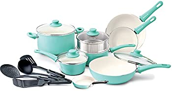 GreenLife Soft Grip 16pc Ceramic Non-Stick Cookware Set