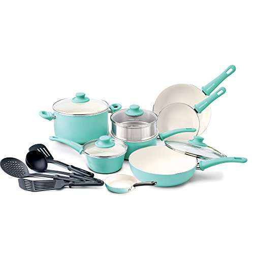 GreenLife Soft Grip 16pc Ceramic Non-Stick
