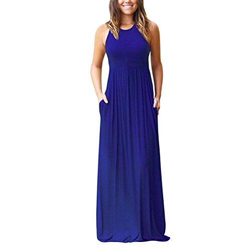 de Maxi Manche Robe Bleu Vintage Longue Robe Soire Femme Semen Crmonie Bal Uni Slim Swing Elgant 5AgUxOqwWq