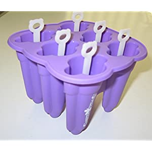 Classic Popsicle Molds Made of Silicone - the Non-Toxic Alternative to BPA-free Plastic - Best Frozen Ice Pop Maker with Reusable Sticks - Won't Crack or Break - Dishwasher Safe - from Simpler Treats