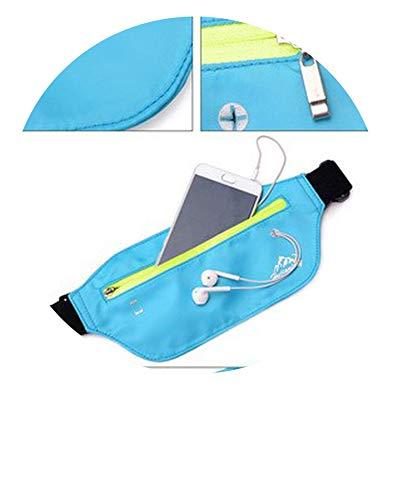 Waist Packs Waterproof Fanny Pack Women'S Belt Bum Bag Pure Neutral Chest Bag Waist Bag Female Male Phone Bags,Blue