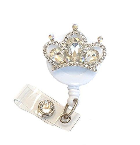Crown Badge - Badge Blooms ID Badge Reel - Bling - Crystal Tiara