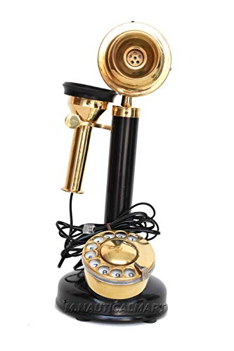 M.Nauticalmart Decorative Antique Style Retro Candlestick Functional Phone Home & Office Decor