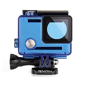 Waterproof Dive Housing Case for GoPro Hero 4, GoPro Hero 3 and GoPro Hero 3+ Action Camera - Up to 40 Meters (131 feet) Underwater