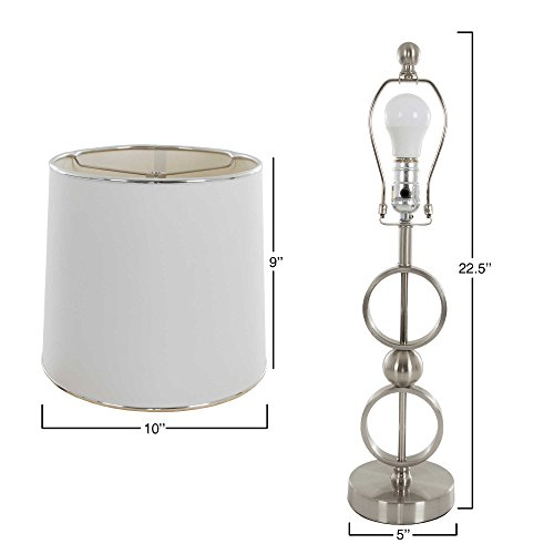 Nottingham Home Modern Table Lamp in Silver (Set of 2) by Generic (Image #2)