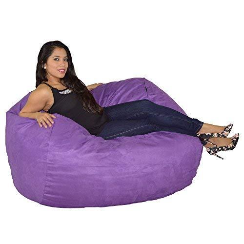 Cozy Sack, LG-CBB-PURPLE, Large Premium Foam Bean Bag Chair, PURPLE