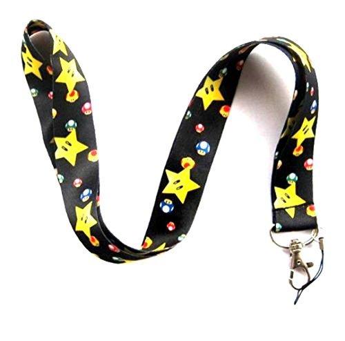 Super Mario Star Lanyard 1 Piece Key Chain Holder - Clearance! (Super Mario Keychain Lanyard)