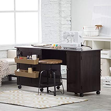 Cinnamon Cherry Sauder Sewing And Craft Table Multiple Finishes