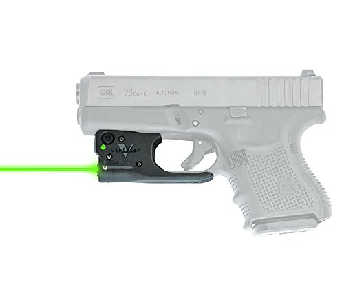 VIRIDIAN WEAPON TECHNOLOGIES, Reactor 5 Gen II Green Laser, Glock 17/22/19/23 with ECR Instant On IWB Holster, Black