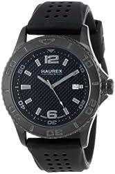 "Haurex Italy Men's 3N500UJN ""Factor"" Black Coated Stainless Steel Sport Watch"