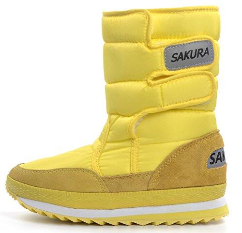 DADAWEN Waterproof Frosty Boot Snow Women's Yellow v4vanrpx