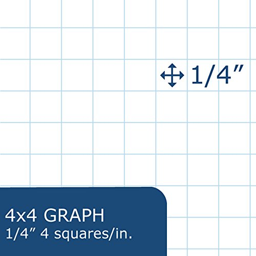 low cost roaring spring graph planning pad 8 5 x 11 inches 4x4 graph