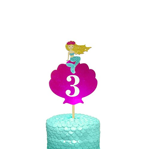 Little Mermaid inspired Cake Topper custome lettering ()