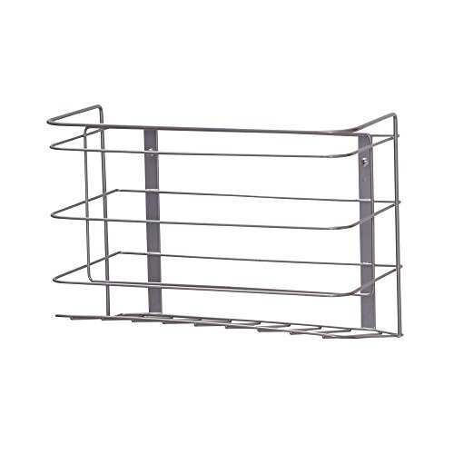 Painted Doors Cabinet (Household Essentials 1222-1 Double Basket Door Mount Cabinet Organizer | Mounts to Solid Cabinet Doors or Walls)