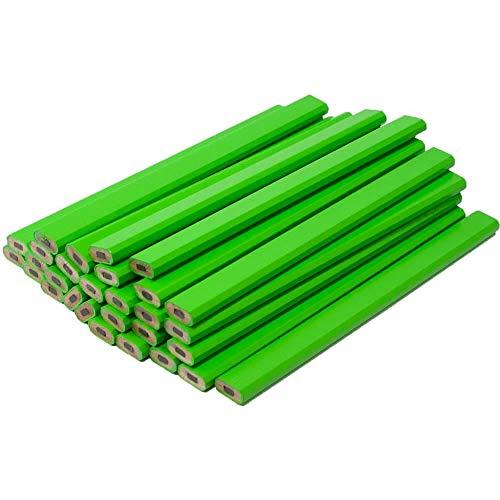 Neon Green Carpenter Pencils - 72 Count Bulk Box - Ten Color Choices