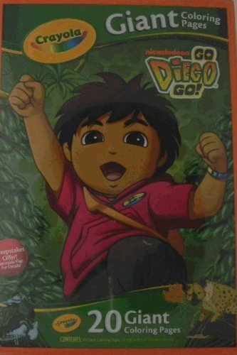 Amazon Com Giant Coloring Pages Go Diego Go Toys Games