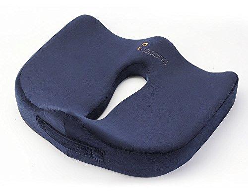 Puppony Orthopedic Comfort Memory Foam Seat Cushion (Blue)