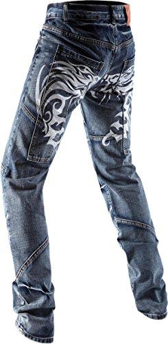 White J229 Regular color J019 Blue blanco Jeansian talla para 28W hombre W38 Pantalones Sq4dwaC
