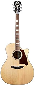 D'Angelico Premier Gramercy Acoustic-Electric Guitar (Natural)