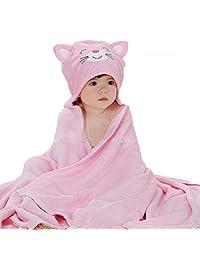 Nanxson(TM) bamboo fiber infant/ newborn toddle blanket/ bath towel YJET0006 (pink ketty)