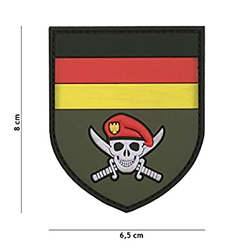 Kommando Skull Deutschland Patch Klett Abzeichen Airsoft Paintball Softair
