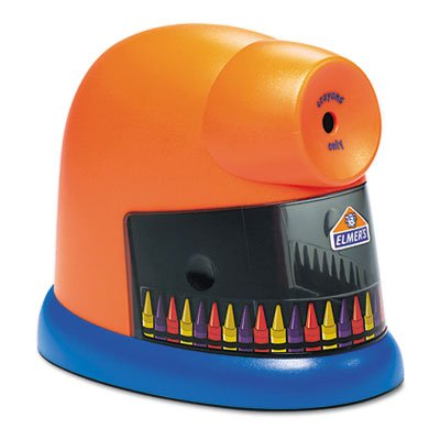 CrayonPro Electric Crayon Sharpener with Replacable Blade, Orange, Sold as 1 Each by Elmer's