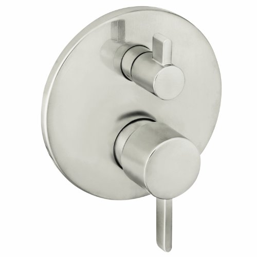 Hansgrohe 04447820 S Trim Pressure Balance with Diverter, Brushed Nickel by Hansgrohe