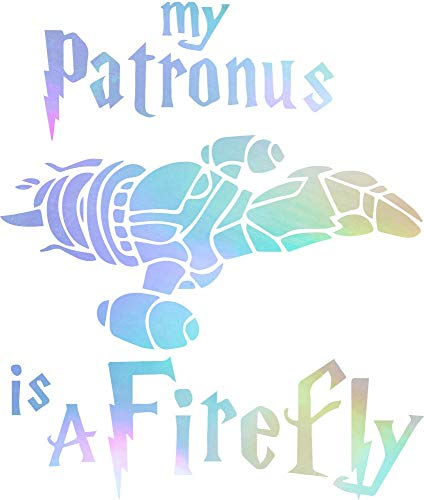 NBFU DECALS My Patronus is A Firefly (Hologram) (Set of 2) Premium Waterproof Vinyl Decal Stickers for Laptop Phone Accessory Helmet CAR Window Bumper Mug Tuber Cup Door Wall Decoration]()