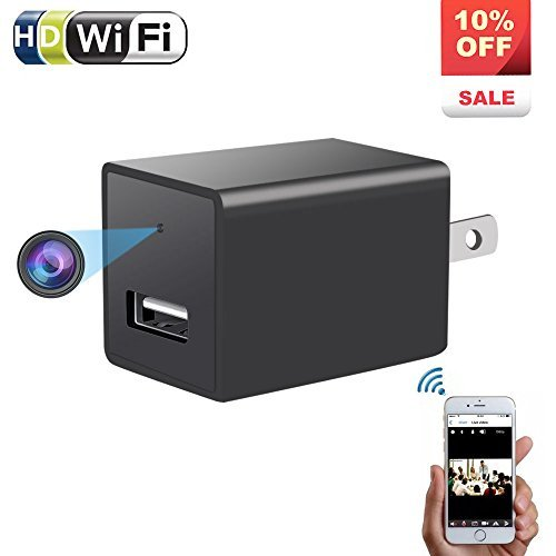 Wireless Charger Hidden Camera - ENKLOV 1080P HD P2P WiFi Sp