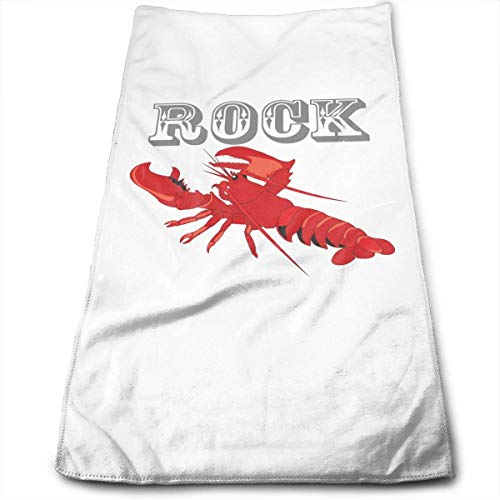- Uanrel Rock Red Lobster Super Absorbent Hair Drying Towels Multipurpose Towels Bath, Hand, Face, Gym Spa