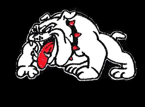3.5 inches x 2.0 inches White Bulldog Novelty