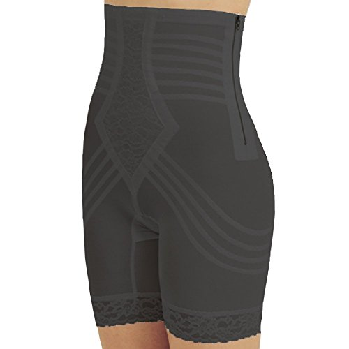 Rago Shapewear High-Waist Long Leg Pantie Girdle Style 6201 - Black - 3XLarge