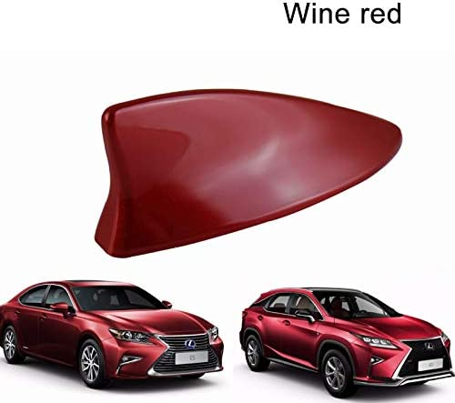 "3/"" Carbon Fiber Aluminum Roof Auto Car Short Antenna Red Fit For Chrysler Pe5"
