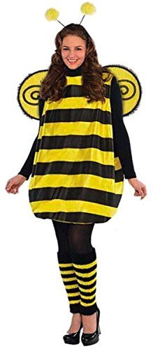 Cute Bumble Bee Halloween Costume (AMSCAN Darling Bee Halloween Costume for Women, Plus Size, with Included)