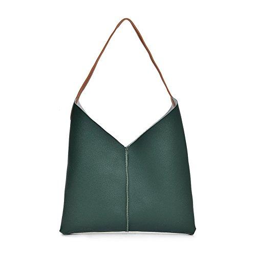 Sac Épaule Tote Femme Bandoulière 3 D'embrayage nbsp;pcs Mode Promotion Green Messenger Purse nbsp;big Seule Bangle009 xqC8g7g