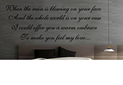 HUANYI New Feel My Love Song Lyrics Adele Vinyl Removable Wall Art Sticker Decal Mural
