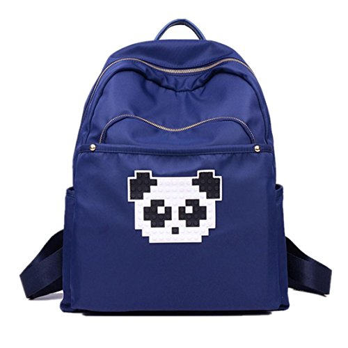 Clode® Mochila unisex Panda impresión mochilas impermeabilizan bolsas de hombro Azul