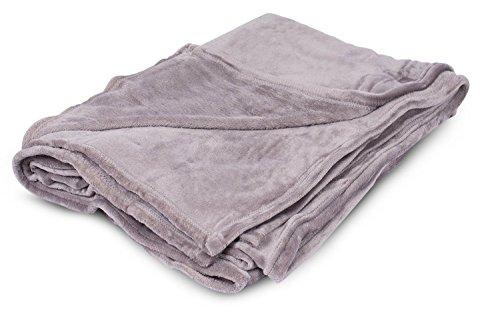 BirdRock Home Plush Throw Blanket - Soft Fabric - Easy to Wash (108 x 90, Grey)