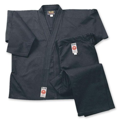 14oz M.A.R International Black Jiu-Jitsu BJJ Suit//Gi//Uniform Unisex Heavy-Weight Canvas Fabric