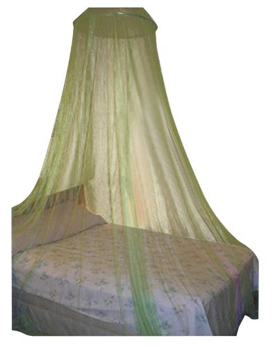 Octorose ® Round Hoop Bed Canopy Netting Mosquito Net Fit Crib, Twin, Full, Queen, King (Lime Green) Hoop-LimeGreen
