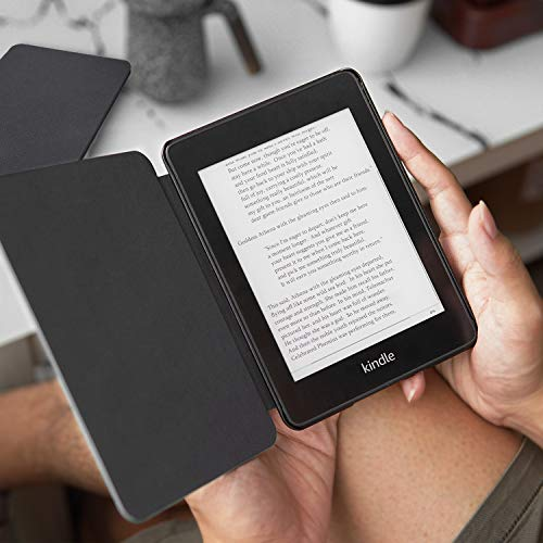 CoBak Kindle Paperwhite Case - All New PU Leather Smart Cover with Auto Sleep Wake Feature for Kindle Paperwhite 10th Generation 2018 Released, Black