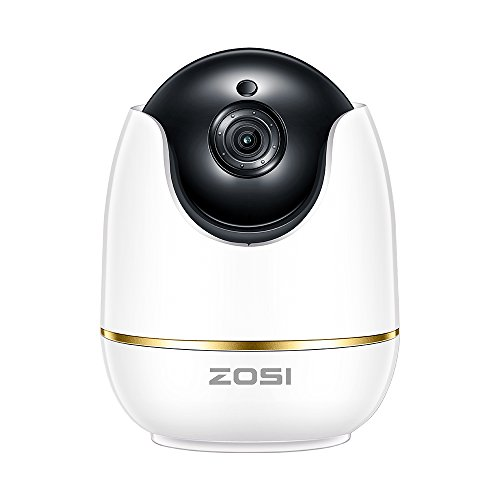 ZOSI 1080P Wireless Security Camera for Home, WiFi Camera Nanny Elder Baby Monitor with Pan,Surveillance IP Camera PTZ Indoor,Two-Way Audio & Night Vision