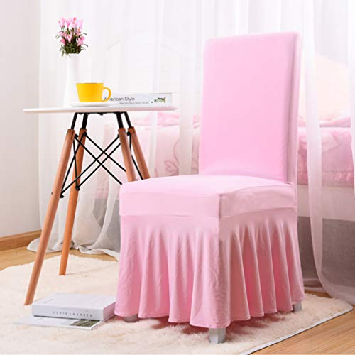 WEEFORT Europe Style Skirt Side Chair Cover Elasticity All Inclusive Seat Case Wedding Restaurant Meeting Lace Slipcover