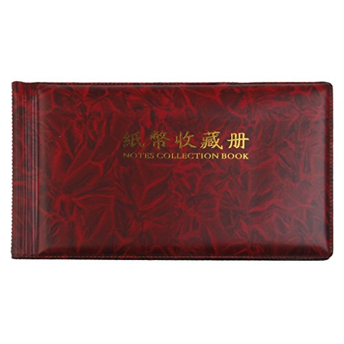 B Blesiya Banknotes Collection Album Protection Storage Book Single Display Pocket Collector Supplies Gifts, Holds up to 60pcs Paper Money