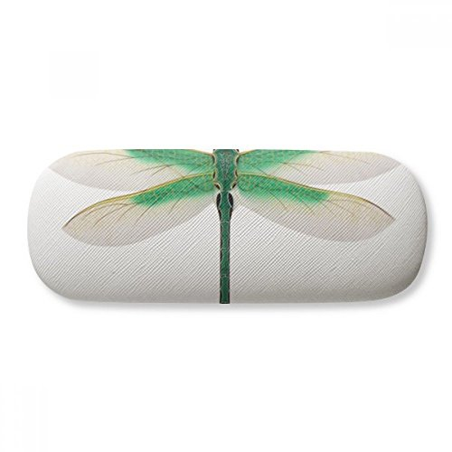 Traditional Chinese Kite Dragonfly Pattern Glasses Case Eyeglasses Clam Shell Holder Storage Box