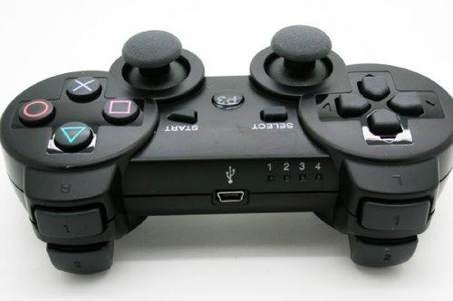 Mando Inalambrico Wireless Bluetooth Compatible para la Consola PS III PS2 PS3 Play Station PlayStation version 1.94 o posterior DoubleShock III 2689