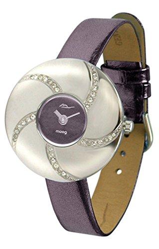 Moog Paris - Hypnotyse - Women's Watch with dark purple dial, dark purple strap in Genuine calf leather, made in France - M44312-004