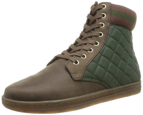 Dr Martens Eduardo Burnished Wyoming Quilted Nylon - Zapatillas de material sintético hombre verde - Grün - Vert (Dark Brown/Khaki)