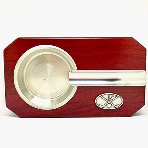 Golf Clubs w/Flag Cigar Ashtray - Golfing Cigar Accessories